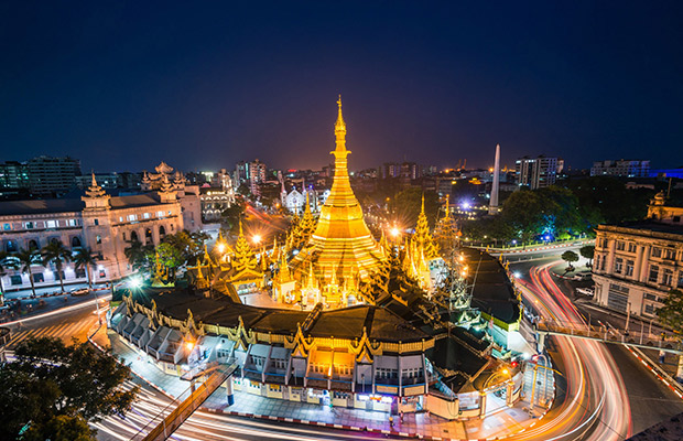 Myanmar City Tour with Ngapali Beach and Angkor Wat Complex